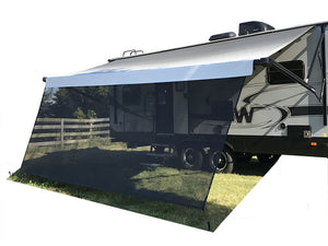 Tentproinc RV Awning Sun Shade - Screen Sunshade Complete Kits - 6'X15'3'' -Black