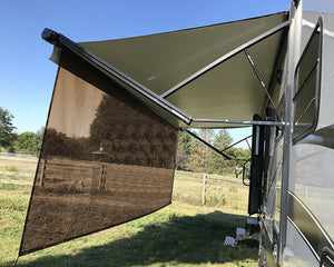 Tentproinc RV Awning Sun Shade Screen Sunshade Complete Kits -Drop 6', 7', 8' 9'-All Length Choose - Brown