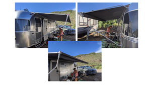 Tentproinc RV Awning Sun Shade - Screen Sunshade Complete Kits - Customized Size - 2020 Airstream Flying Cloud 25FB
