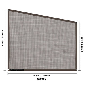 Tentproinc Home Awning Side Sun Shade 9'X7'X10'  Complete Kits mesh Sideblocker Screen Retractable Tarp - 3 years Guarantee Limited