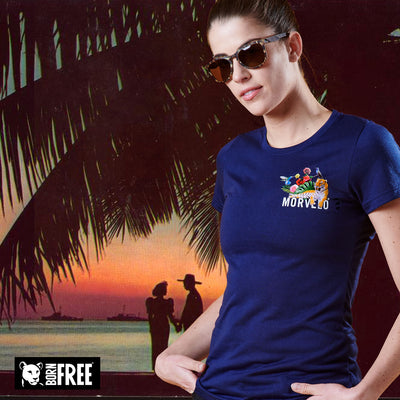 Womens Wild Life SS Tech Tee
