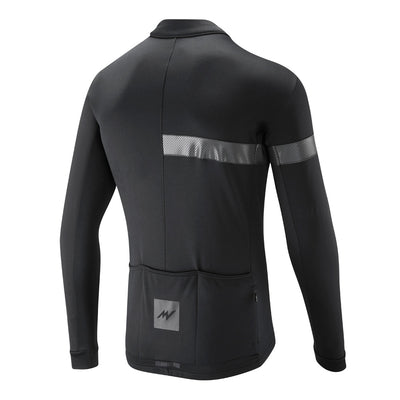 Black Windproof Thermoactive Jersey