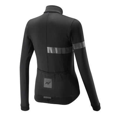 Womens Black Windproof Thermoactive Jersey