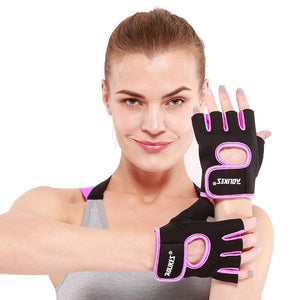 1 Pair  Women Gym Half Finger Gloves - The Fit Hub
