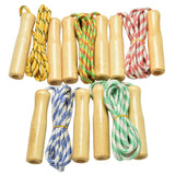 1PC  Wood Grip Handle Skipping Rope - The Fit Hub