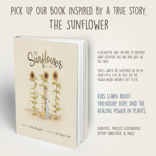 Load image into Gallery viewer, The Sunflower book by Krista Wigginton helps kids discover what essential oils are and why we use them