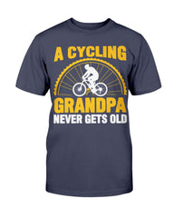 Cycling Grandpa Never Gets Old Shirt