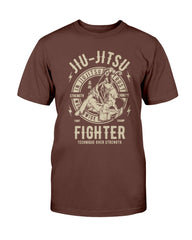 Fighter Technique Over Strength Juijitsu Tshirt