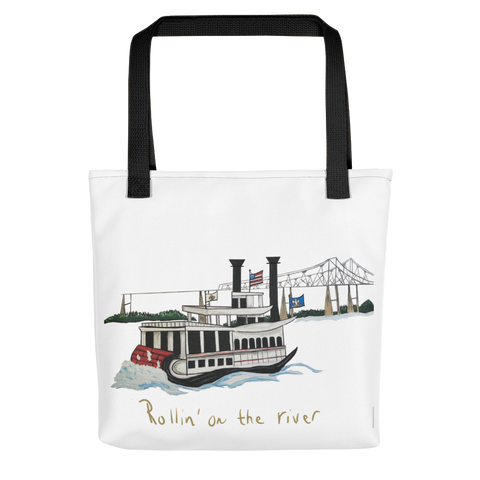 New Orleans River Boat Tote Bag