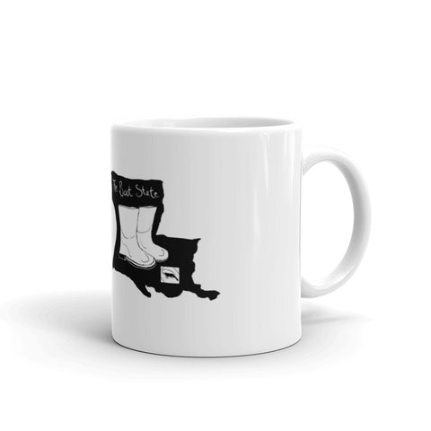 New Orleans NOLA Boot State B+W Mug