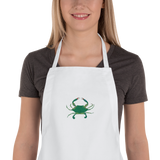 New Orleans Crab Embroidered Apron