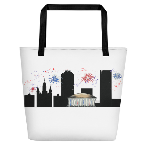 New Orleans 4th of July Summer Beach Bag