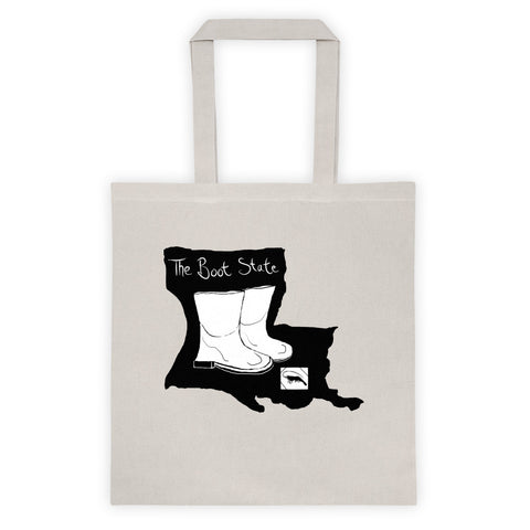 New Orleans NOLA Boot State B+W Tote bag
