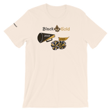 Unisex New Orleans Black and Gold Tee