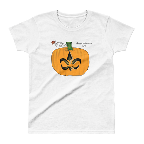 Women's NOLA New Orleans Halloween Pumpkin Top