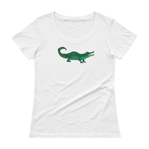 Women's New Orleans Alligator Scoopneck Tee