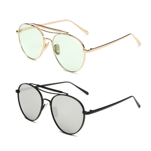 Unisex Flat Top Pilot Sunglasses