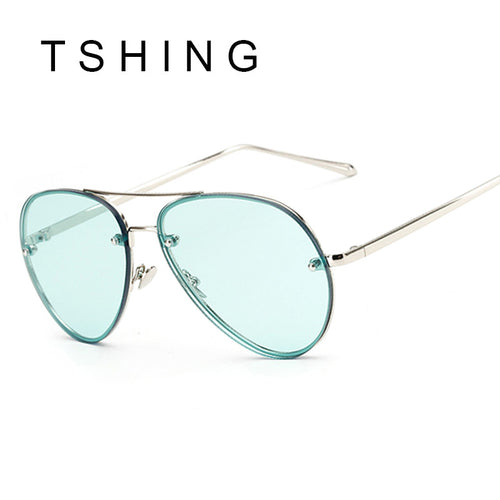 Unisex Rimless Aviation Sunglasses