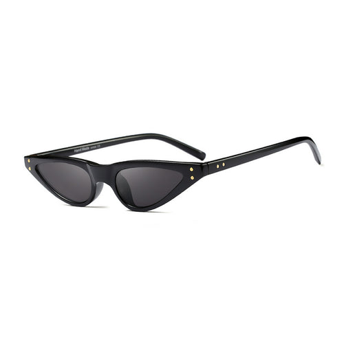 Women's Flat Top Small Triangle Cat Eye Sunglasses