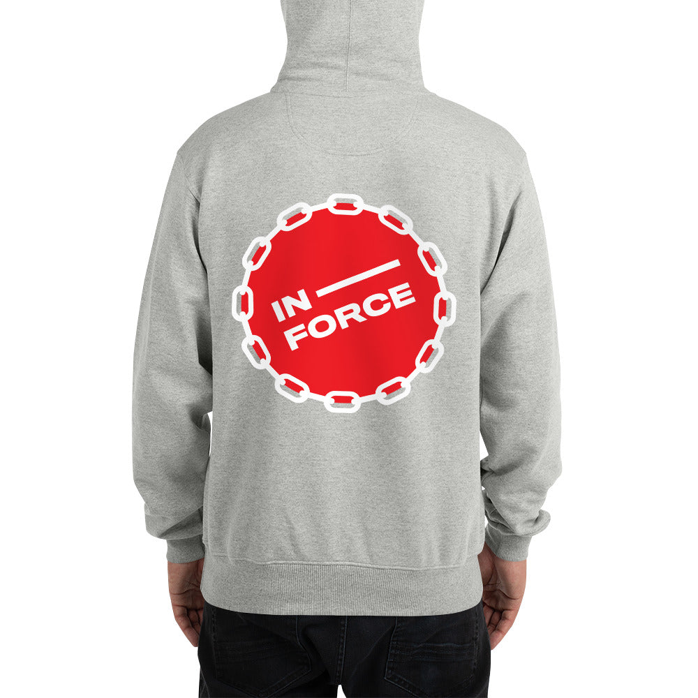 Inforce hoodie red wording - INFORCE Clothing