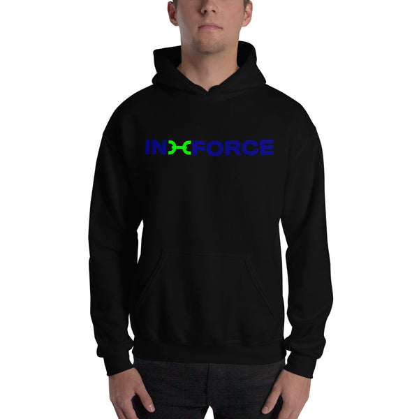 lime green and blue inforce hoodie - INFORCE Clothing