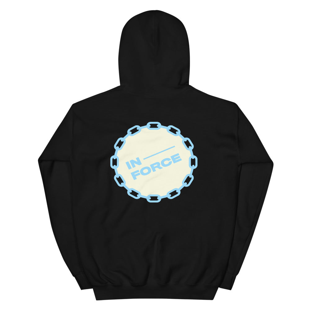 tan/light blue Hoodie - INFORCE Clothing