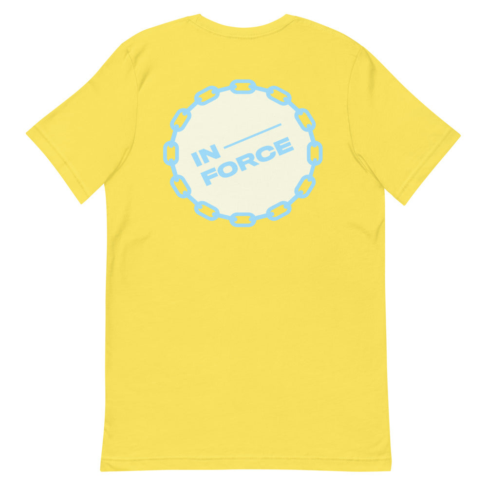 tan/light blue Short-Sleeve Inforce T-Shirt - INFORCE Clothing