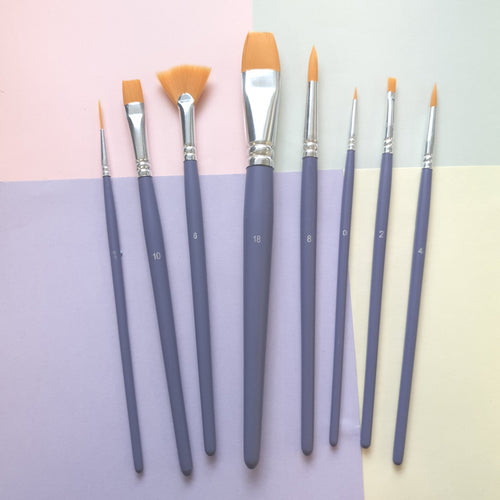 Mixed Polyamide Brushes | Pack of 8