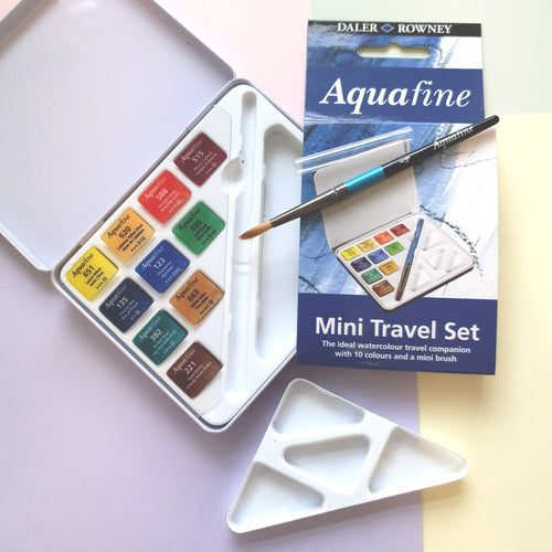 Aquafine Watercolour Palette | Mini Travel Set