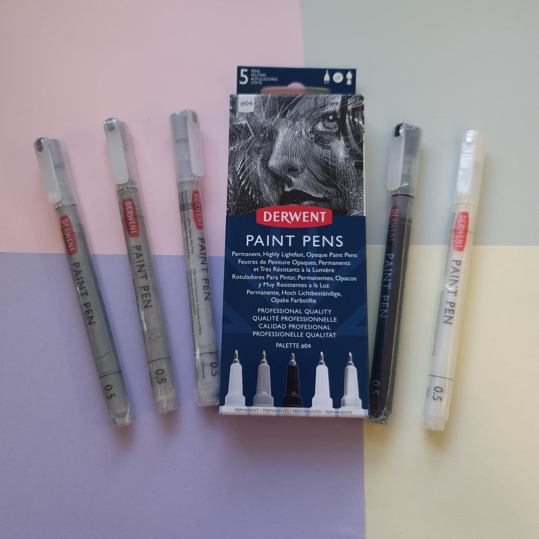 Monochrome | 5pc Derwent Paint Pens