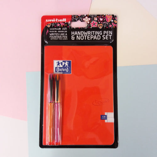Uniball Air Pen & Oxford Notepad Set