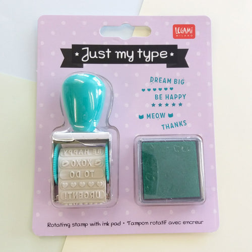 Just My Type | Stamp with Ink