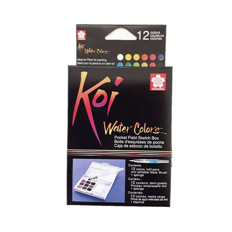 Watercolour Essentials Set | Pocket Field Sketch Box