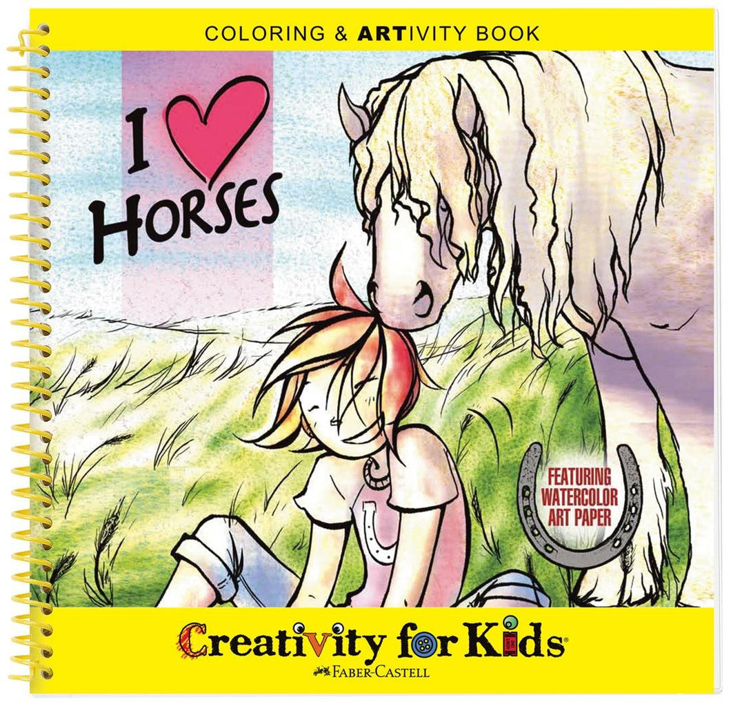 I ❤ Horses Colouring Book | Paint & Play Activity Book