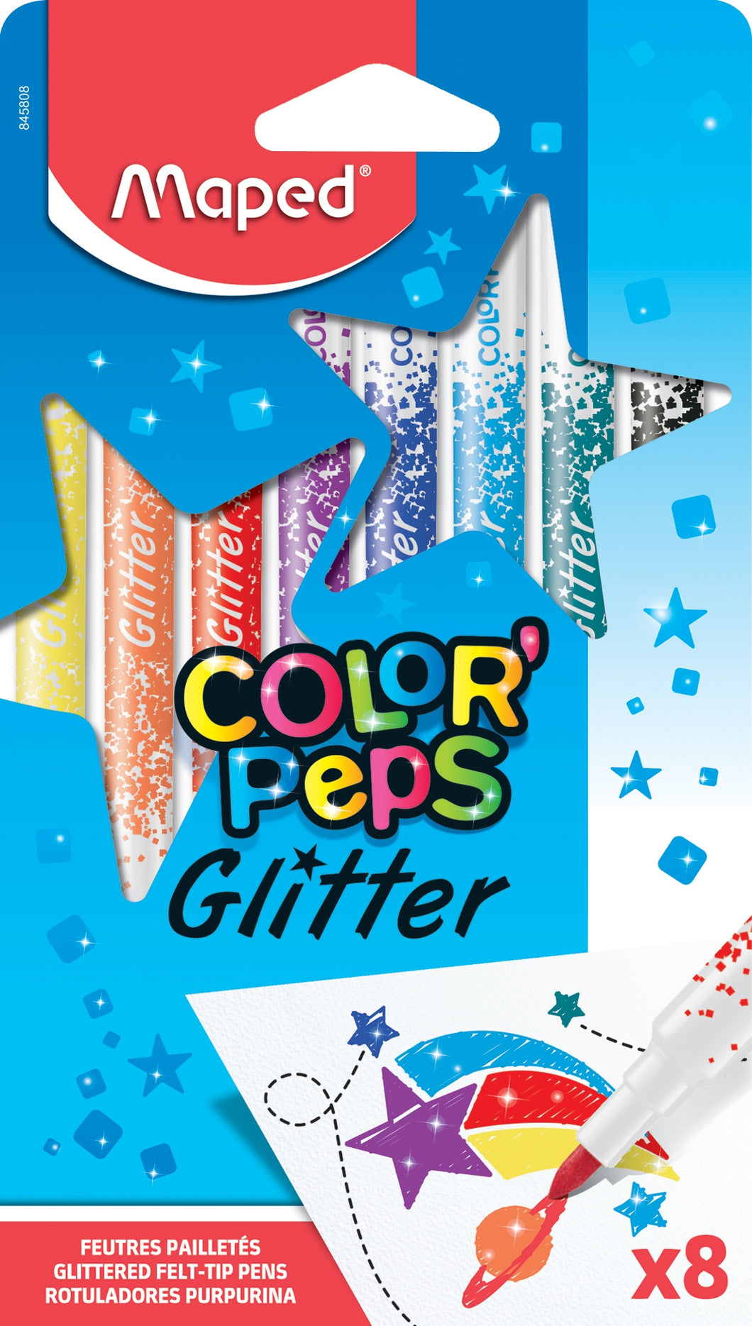 Glitter Effect Markers | Maped Colour Peps