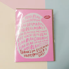 Mothers Day Bla Bla | Blank Greeting Card with Envelope