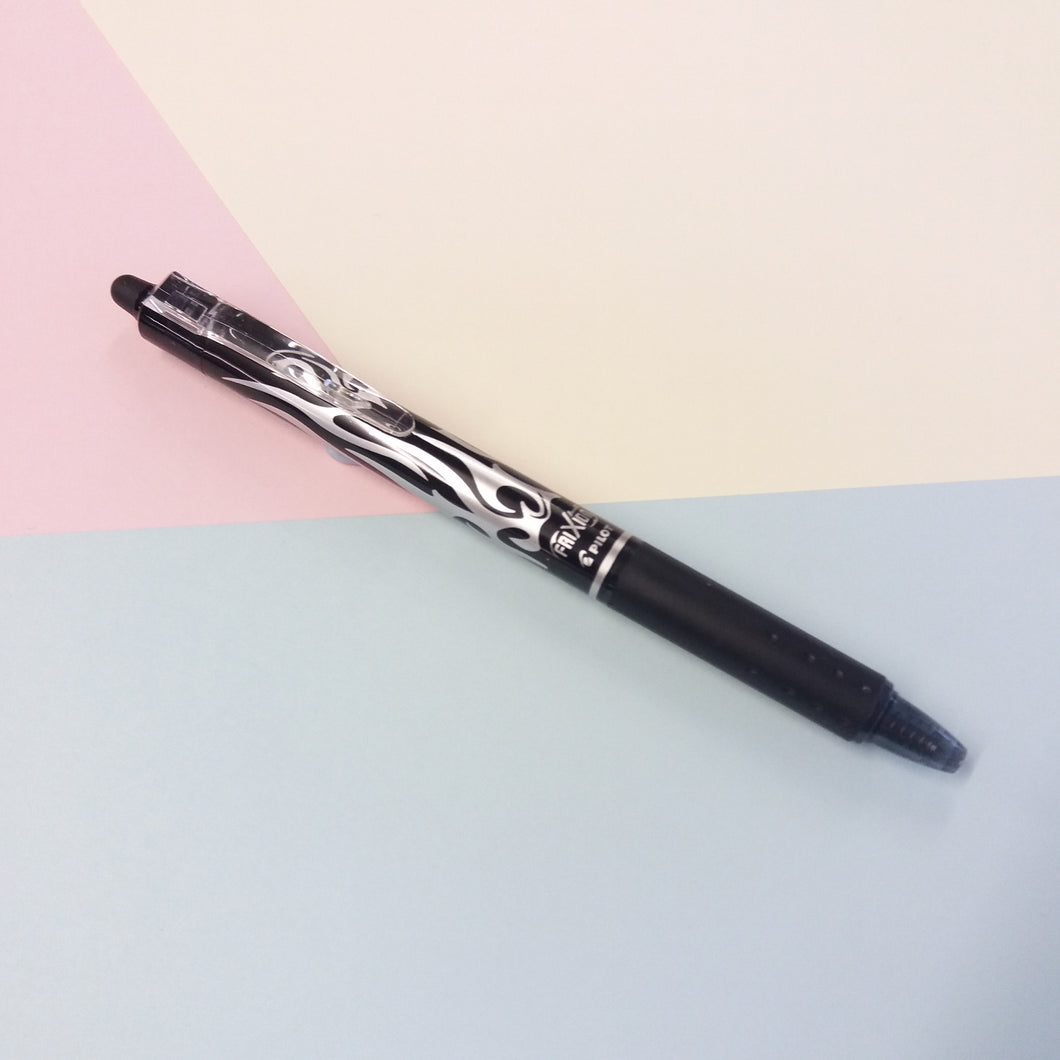 Frixion Erasable Black Rollerball Pen
