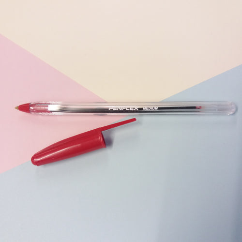 Red Penflex Ballpoint Pen