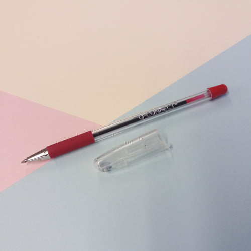 Qconnect Red Ballpoint Pen