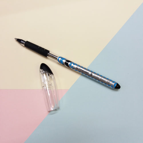 Black Schneider Slider Basic XB Rollerball Pen