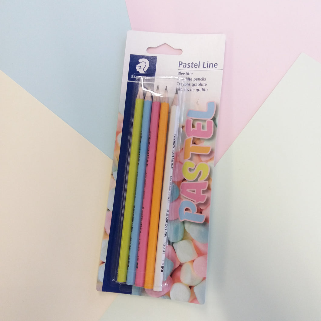 Pack of 5 Staedtler Pastel Theme Graphite HB Pencils
