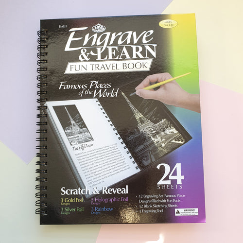 Famous Landmarks | Scratch and Reveal Foil bookb