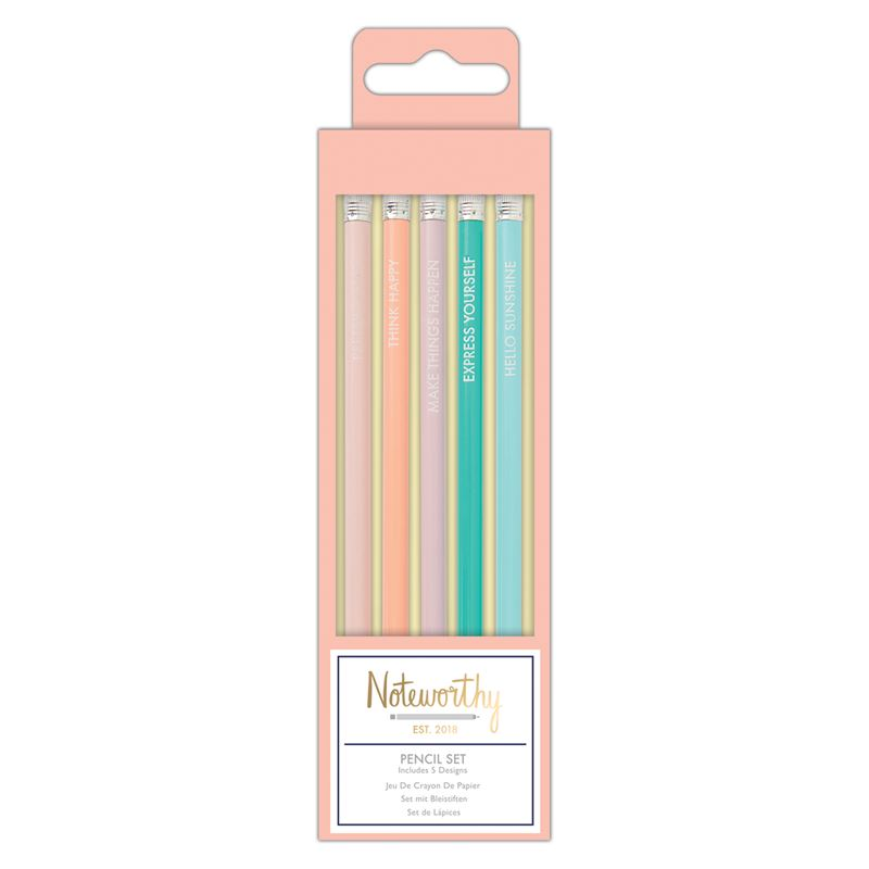 Positive Vibes 5-Pencil Set | Pastel Hues