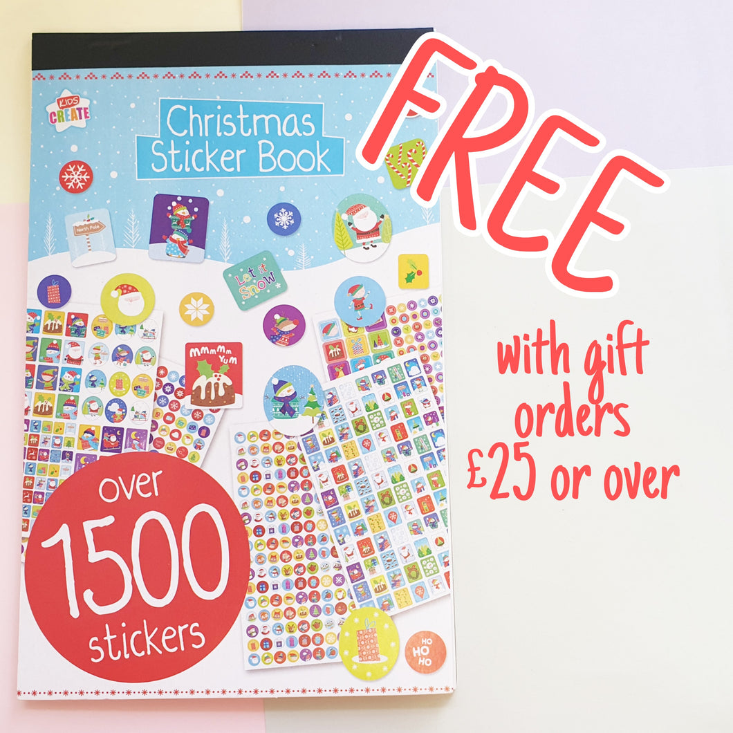 Christmas Stickerbook | Free with orders over £25 | Over 1500 Stickers