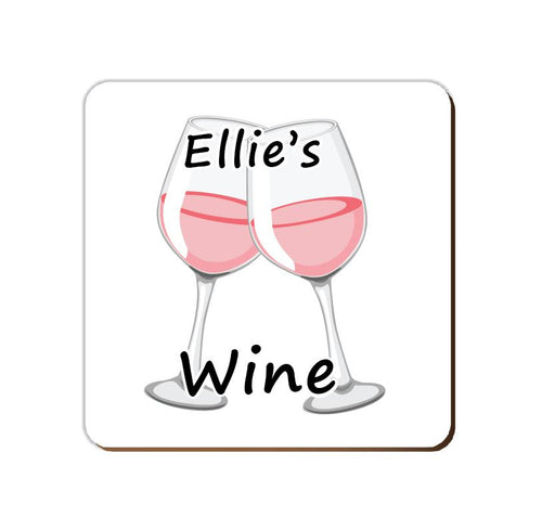 ______'s Rose Wine | Personalised Drinks Coaster
