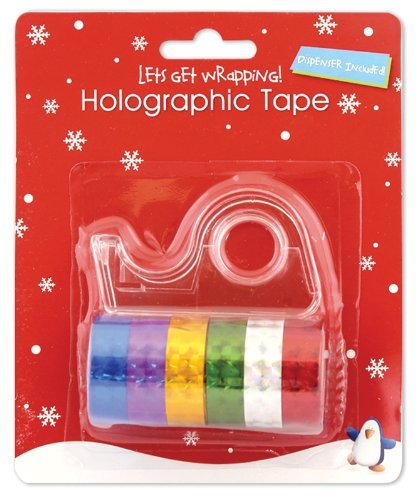 Holographic Washi Tape 6 Pack with Dispenser