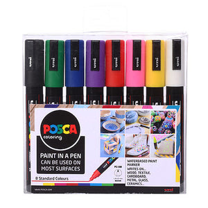POSCA™ Pens Pack of 8 | 1.8mm Rounded Tip | PC- 5M