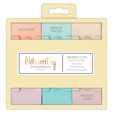 Positive Vibes Binder Clips | Pastel Hues