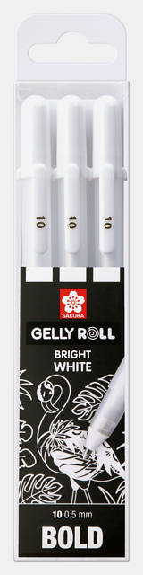 Gellyroll Bright White Gel Pens | 3 Pack | Bold