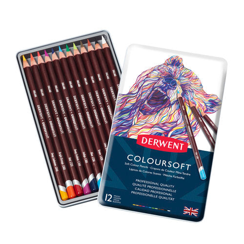 Derwent Coloursoft Pencils | Tin of 12